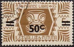 Wallis Et Futuna Obl. N°  148 - Série De Londres. 50c Sur 5c Bistre-brun - Used Stamps
