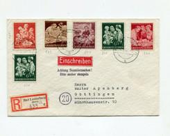 !!! ALLEMAGNE, LETTRE RECO DE BAD LAUTERBERG DE 1944 BEL AFFRANCH - Covers & Documents
