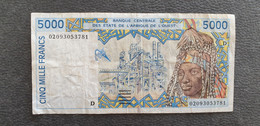 West Africa / Westafrikanische Staaten 5000 Francs 1996 D Mali /21.04 - West African States