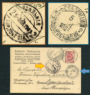 0047 Russia TEMPORARY PO Shuvalovskoe + Udelnaya Cancel 1903 Postcard From Lovisa (Finland) Pmk - Covers & Documents