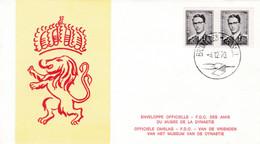 Enveloppe FDC 1561e Carnet Roi Baudouin - 1961-70