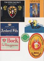 Lot D'Etiquette (label) De Biere Française   ( Beer, Cerveza, Birra, Bier); 9 Brasseries - Birra