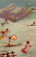 CPSM Joyeux Noël : Anges Volants - Anges