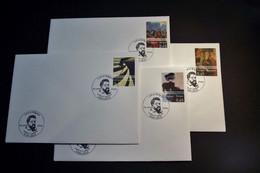 Belgie - Belgique - 2006 - OPB 3516/19 -  L'art En Belgique -  4 Enveloppes Afgestempeld  22.04.2006 Liège - Gebraucht