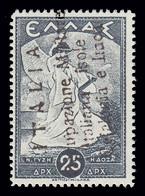 Isole Ionie - Cefalonia E Itaca (Emissione Di Argostoli): Mitologica Del 1937/38 - 25 D. Azzurro - 1941 - Cefalonia & Itaca