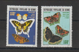 Benin 1986 Papillons 644-645 2 Val ** MNH - Benin - Dahomey (1960-...)