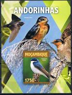 Bloc Sheet Oiseaux Hirondelles Birds Swallows Andorinhas Neuf  MNH ** Mozambique 2016 - Other