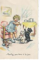 """CPA  - Germaine BOURET - """" Parlez Pas Tous à La Fois . """"  1941 - TBE - - Bouret, Germaine"""