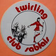 AUTOCOLLANT STICKER - LES SABLES D' OLONNE - TWIRLING CLUB SABLAIS - Adesivi