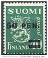 Finland 1931 Opdruk 50-40 Pen Type II Wapentype Leeuw PF-MNH-NEUF - Neufs