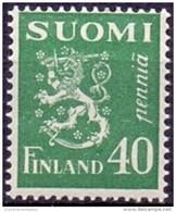 FINLAND 1930 40p Groen Leeuw Type II PF-MNH - Neufs
