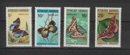 Gabon 1971 Papillons 271-274 4 Val ** MNH - Gabon