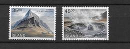 1989 MNH Iceland, Michel 704-5 Postfris** - Unused Stamps