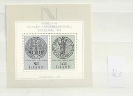 1983 MNH Iceland, Island, Mi Block 5, Postfris - Ongebruikt