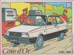 Sticker Autocollant Aufkleber Strip Cartoon Stripfiguur Tintin Kuifje Citroen Axel 1984 - Stickers