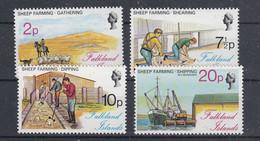 Falkland Islands 1976 Sheep Farming 4v ** Mnh (51430) - Islas Malvinas
