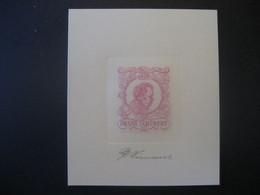 Österreich Abart 1955- Franz Schubert Probedruck Von Georg Wimmer, Signiert Mit Bleistift - Varietà & Curiosità
