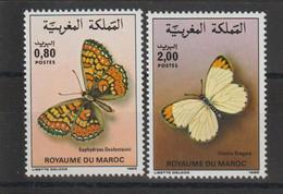 Maroc 1985 Papillons 996-997 2 Val ** MNH - Maroc (1956-...)