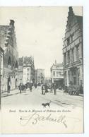 Gent Gand  Rue De La Monnaie Et Château Des Comtes ( Licht Geplooid - Rechts ) - Gent