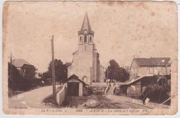 Valence - La Gare Et L'Eglise - Valence D'Albigeois