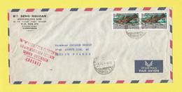 Lettre  CAMBODGE + Censure KHMÈRE De Phnom-Penh Par Avion Pour Paris Le 04 02 72  Poisson Poissons - Kambodscha