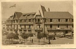 1931 Sables-d'Or-les-Pins Kaart Naar Belgie Met Zeskant Punt Stempel - Ed G. Thaumoux - Hotel Des Dunes D'Armor - - Sonstige Gemeinden