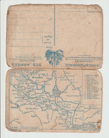 COURRIER  MILITAIRE-  14-18 --  AVEC CARTE  MILITAIRE - 1914-18