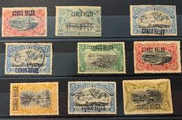 """CONGO-BELGE -  """"Mols"""" De 1908 -  Les Neufs Fortes Charnières Ou Sans Gomme - Otros"""