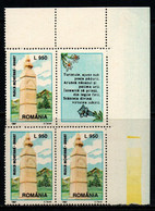 Romania 1997, Scott 4175C, MNH Block With Lebel, Tourism Monument - Ungebraucht