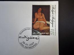 Belgie - Belgique - 2007 - OPB 3599 - Modigliani - 1 Enveloppe  Afgestempeld  06.01.2007 Antwerpen - Gebraucht