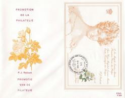 Enveloppe FDC 2282 Bloc 63 Rose Reine Louise-Marie Vaux-sous-Chevremont - 1981-90
