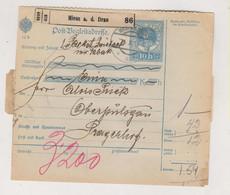 SLOVENIA,Austria 1915 MIESS A.d. DRAU MEZA Parcel Card - Slovenia