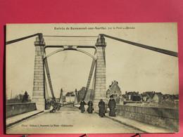 72 - Entrée De Beaumont Sur Sarthe Par Le Pont Suspendu - CPA En Très Bon état - R/verso - Beaumont Sur Sarthe