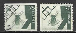 SUEDE    -    1971.   Y&T N° 692 / 692a Oblitérés.   Moulins - Used Stamps