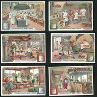 6 Sammelbilder Liebig, Serie Nr.: 1037, L'Art Culinaire Chez Divers Peuples, Küchen In China, Deutschland, Frankreich - Liebig