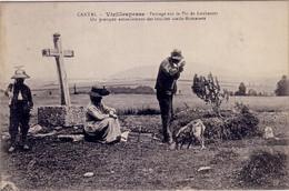 CANTAL - VIEILLESPESSE - PAYSAGE SUR LE PIC DE LOUBARCET - ON PRATIQUE ACTUELLEMENT DES FOUILLES GALLO-ROMAINES - Autres Communes