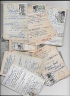 Lot 2 Ensemble De + De 100 Talons Avis De Virement Avec Timbre Pour Revendeur - 1921-1960: Periodo Moderno