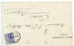 España 1883 Carta De MADRID 25c Bonito  Ambulante NOROESTE   Hasta Belgica  EL735 - Cartas
