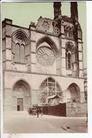 Cpa Soissons Entree Principale De La Cathedrale Mutilee - Soissons