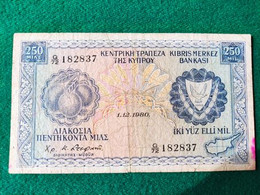 Cipro 250 Lirs 1980 - Cyprus