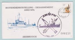 Militaire Omslagen, Lettres Militaire, Zeemacht, Force Navalle, Buitendienststelling A 963 SPA, - Sobres