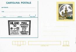 Cartolina Postale MILANO '82 (1982); Nuova - Interi Postali