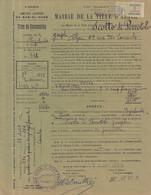 Ville D'ALGER - 1942 - Titre De Concession Cimetière De BAB-EL-OUED _ SCOTTO Di PERROTOLO  Joseph - Détails  SCANS - Historische Documenten
