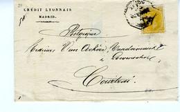 España 1882 Carta De MADRID 50c Naranja   Ambulante  NORTE   Hasta Belgica  EL739 - Cartas