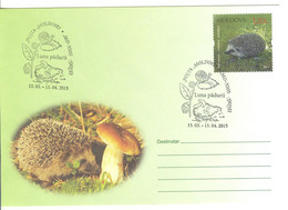 2015 Moldova  Moldavie  Moldau Month Of The Forest I Hedgehogs  Mushrooms  Snails Special Cancell - Moldawien (Moldau)