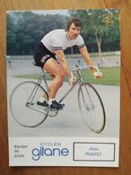 Cyclisme - Carte Publicitaire GITANE PISTE 1973 : Alex PONTET - Cycling