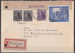 All. Besetzung Gemeinschaftsausgabe 1948 - Einschreiben Ehra-Lessien - American,British And Russian Zone
