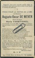 Auguste De Wever :  Assche 1893 - Uccle 1930 - Devotion Images