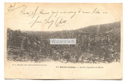 Lesbos, Mételin - Ancien Acueduc De Moria - Early Used Greece Postcard With Stamps, Posted To England - Grèce