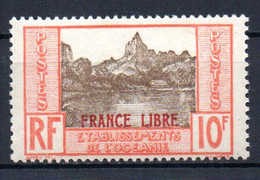 ColTGC  Océanie France Libre N° 142 Neuf XX MNH  Cote 45,00 € - Unused Stamps